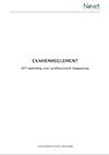 Novet examenreglement - EFT opleiding